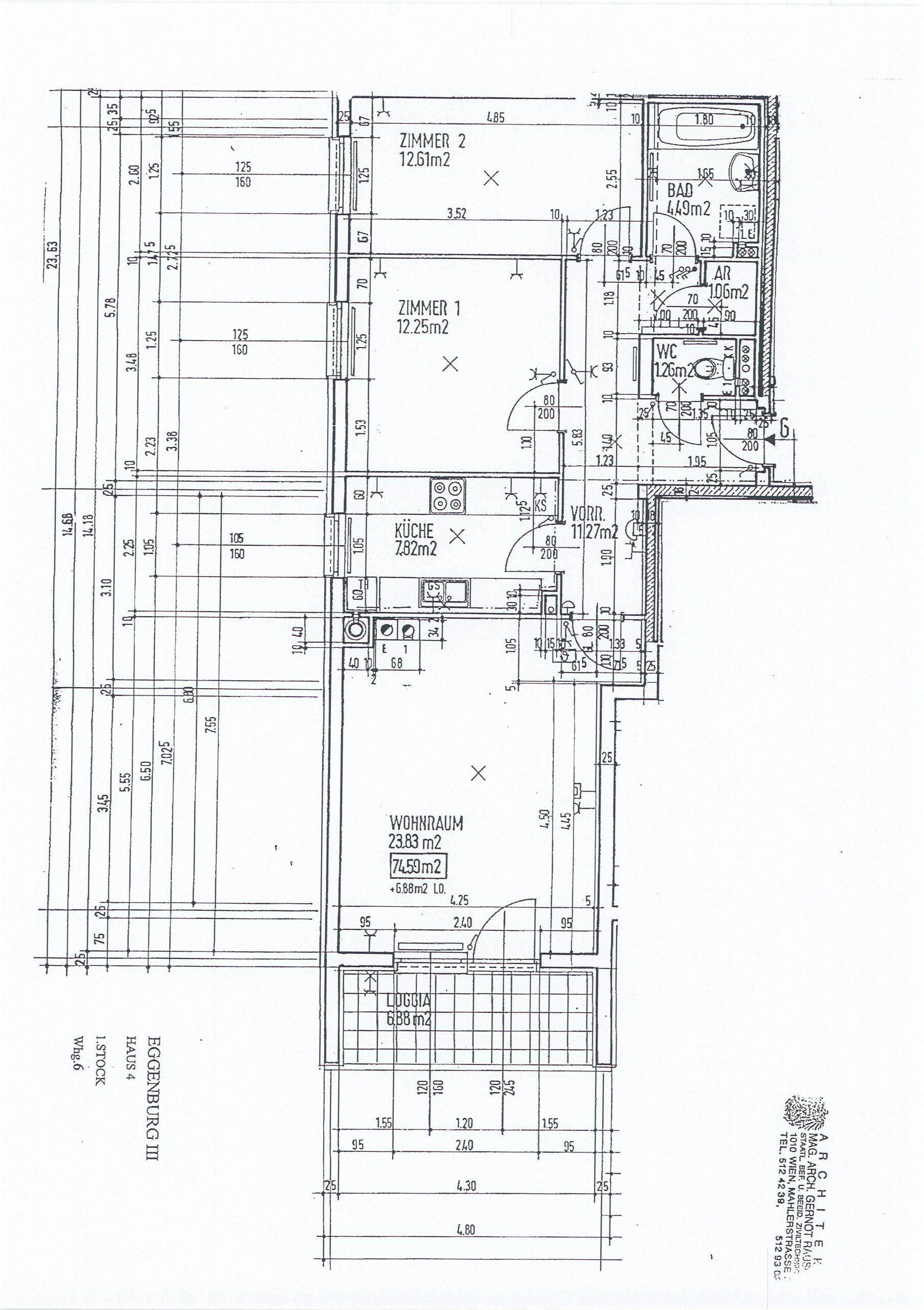 Immobilie von Kamptal in 3730 Eggenburg, Horn, Eggenburg III/4 - Top 6 #9