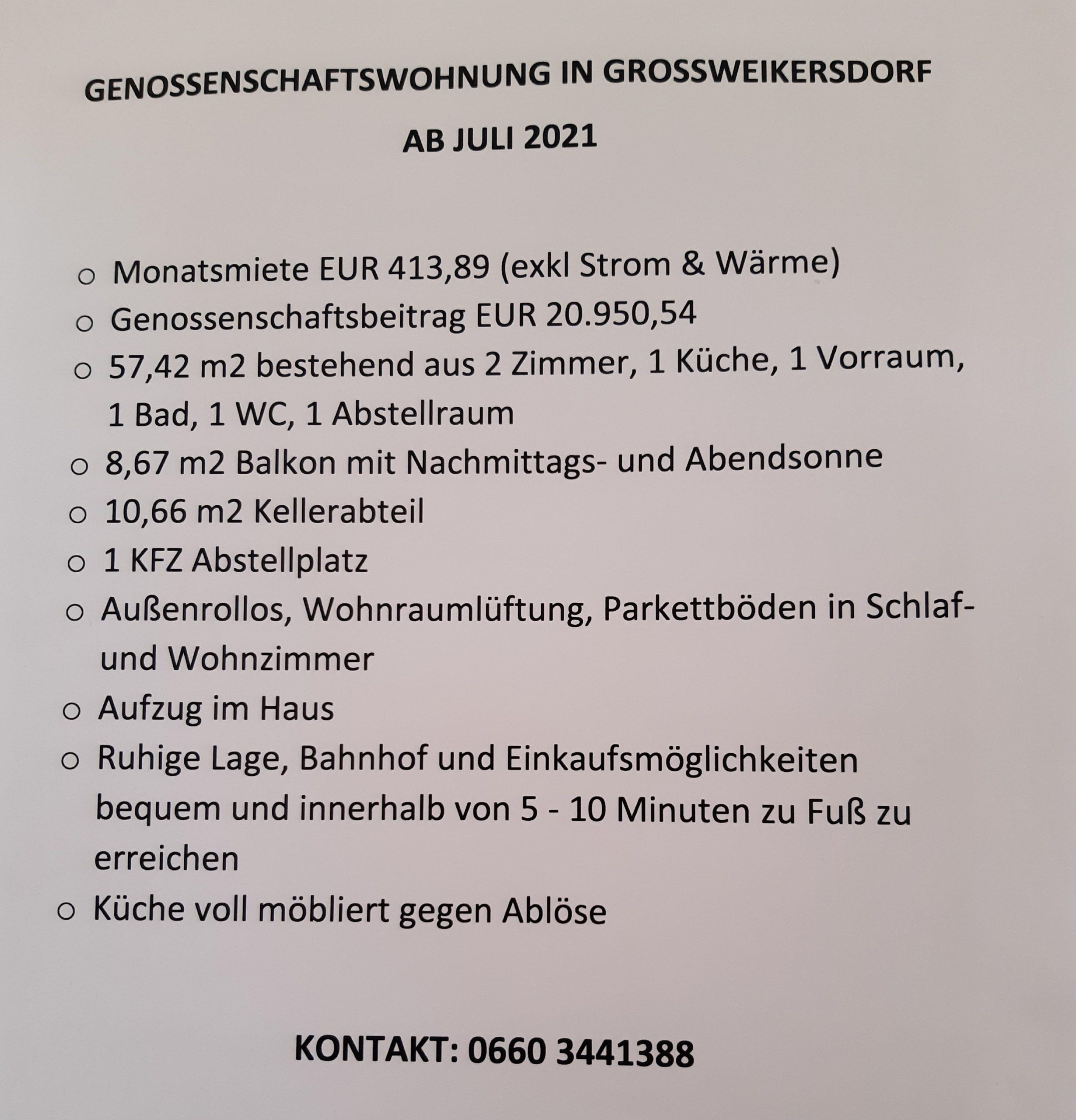Immobilie von Kamptal in 3701 Großweikersdorf, Tulln, Großweikersdorf I/2 - Top 7 #6