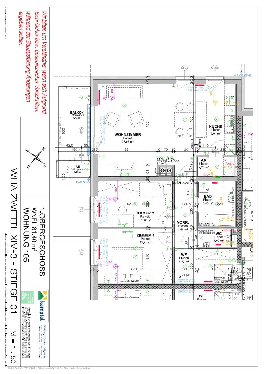 Immobilie von Kamptal in 3910 Zwettl-Niederösterreich, Zwettl, Zwettl XIV/3 - Top 105 #7