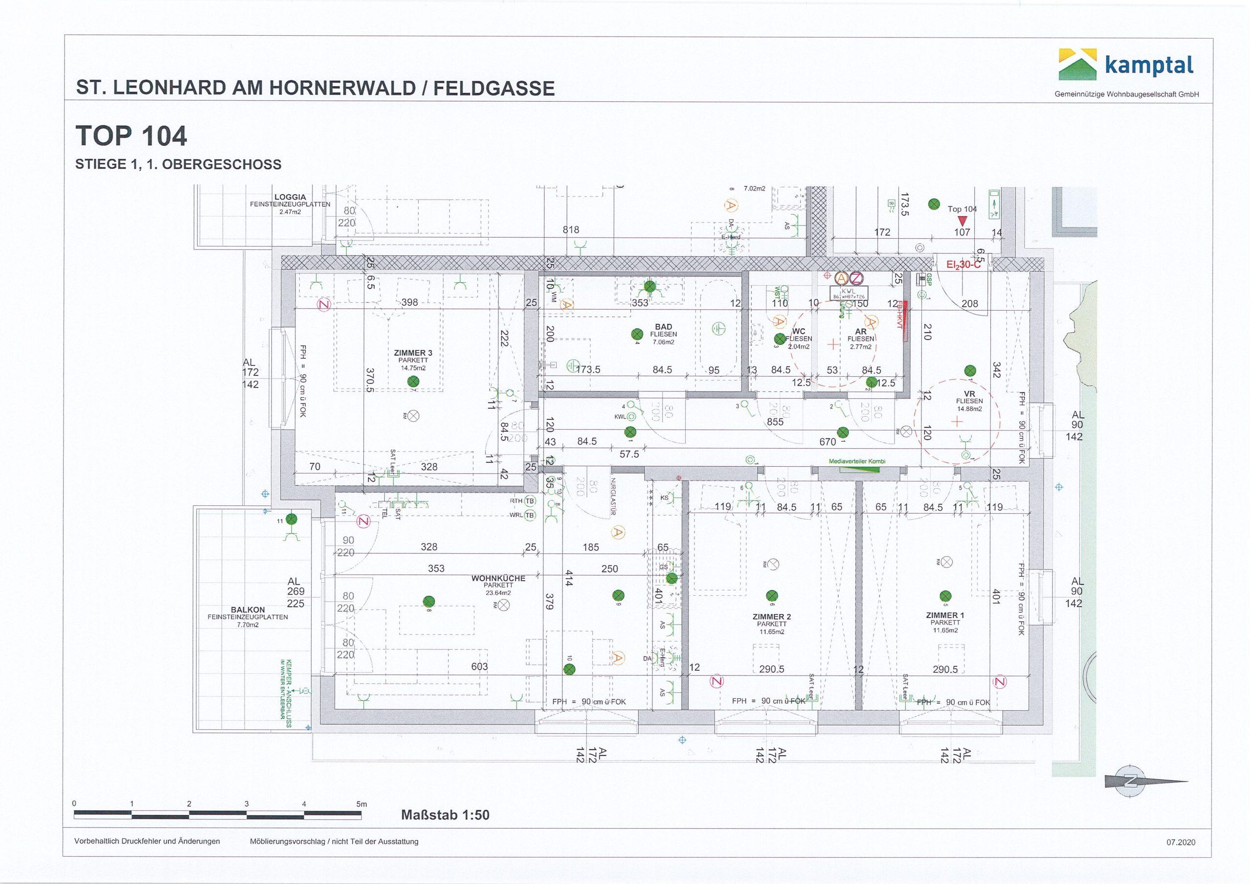 Immobilie von Kamptal in 3572 St. Leonhard am Hornerwald, Krems(Land), St. Leonhard/Hw. III/1 - Top 104 #0